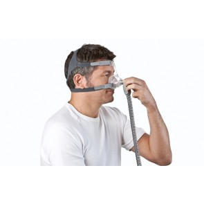BiLevel device S9 Auto 25 ResMed with H5i Humidifier and Nasal Mask Mirage FX